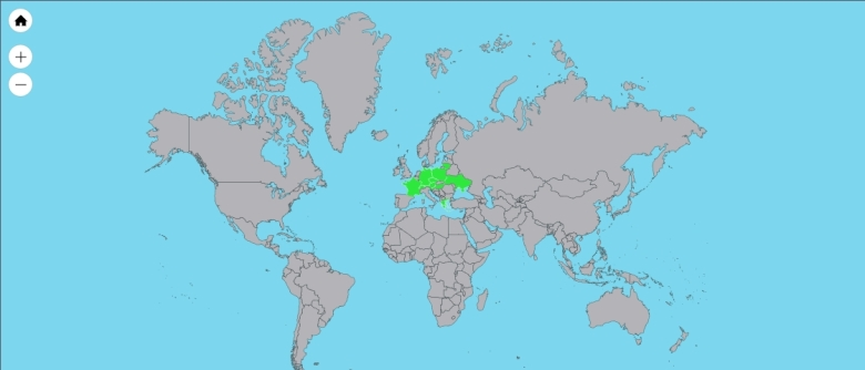 zoom out countries visited