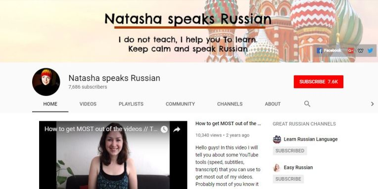 Natasha Speaks Russian