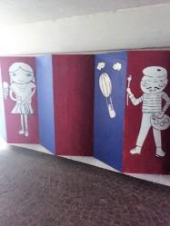 underground tunnel from my accommodation to the language school, Goethe-Institut Schwäbisch Hall