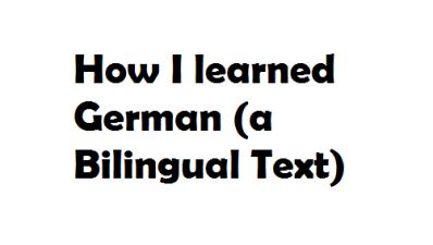 How I learned German