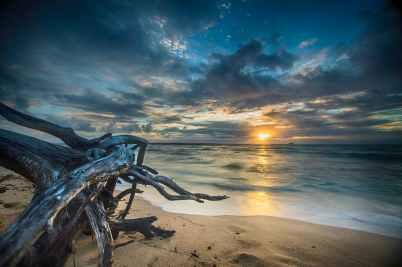 beach dawn dusk hd wallpaper